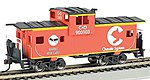 36' Wide Vision Caboose Chessie Orange -- HO Scale Model Train Freight Car -- #17726