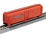 50' ACF Steel Reefer Tropicana Orange -- N Scale Model Train Freight Car -- #17956