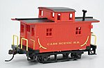 Bobber Caboose Cass Scenic R.R. -- HO Scale Model Train Freight Car -- #18445