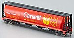 4-Bay Grain Hopper Canada Grain -- N Scale Model Train Freight Car -- #19181