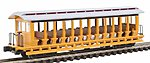 Jackson Sharp Excursion Painted Yellow/Silver -- N Scale Model Train Freight Car -- #19398