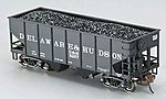 55T 2-Bay Hopper w/Coal Delaware & Hudson -- HO Scale Model Train Freight Car -- #19505