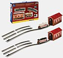 Christmas Street Car On30 -- O Scale Trolley and Hand Car -- #25017