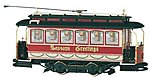 Spec Street Car Christmas -- On30 Scale Trolley and Hand Car -- #25127
