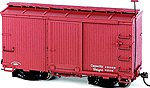Boxcar Oxide Red Data Only -- O Scale Model Train Freight Car -- #26552