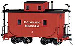 Caboose Colorado Mining Co. On30 -- O Scale Model Train Freight Car -- #27762