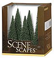 Pine Trees 5-6 (6) -- Model Railroad Scenery -- #32001