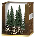 Spruce Trees 5-6 (6) -- Model Railroad Scenery -- #32004