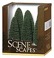 Cedar Trees 5-6 (6) -- Model Railroad Scenery -- #32005