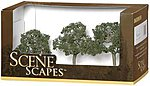Walnut Trees 2.5-3.5 (3) -- Model Railroad Scenery -- #32007