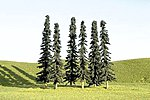 3-4 Inch Conifer Trees (36) -- N Scale Model Railroad Scenery -- #32155