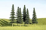 3-4 Inch Spruce Trees (36) -- N Scale Model Railroad Scenery -- #32157