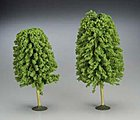 5 1/2-6 1/2 Inch Deciduous Trees (2) -- O Scale Model Railroad Scenery -- #32206