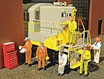 Mechanics (6 & Tool Chest) -- HO Scale Model Railroad Figure -- #33113