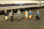 Standing Platform Passengers -- O Scale Model Railroad Figure -- #33160