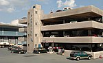 Resin Front 4-Story Parking Garage -- HO Scale Model Railroad Building -- #35003