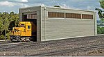 Single Stall Shed Kit -- HO Scale Model Railroad Building -- #35115