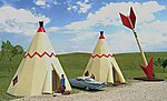 Teepee Hotel -- HO Scale Model Railroad Building -- #35205