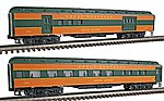 2-Car Passenger Add-On (72'Scale) - Great Northern -- O Scale Model Train Passenger Car -- #43302