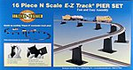 E-Z Pier 16 Piece Set -- N Scale Model Railroad Bridge -- #44871