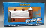 Dairy Barn w/Silo Built-Up -- HO Scale Model Railroad Building -- #45007