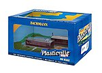 Railroad Work Shed - Plasticville - pkg(2) Assembled -- HO Scale Model Railroad Building -- #45009
