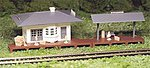 Suburban Station Snap Kit -- HO Scale Model Railroad Building -- #45173