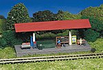 Platform Station Snap Kit w/Accessories -- HO Scale Model Railroad Building -- #45194