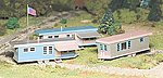 Built-Up Buildings - Trailer Park -- O Scale Model Railroad Trackside Structure -- #45310
