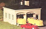 Fire House w/Vehicles Kit -- O Scale Model Railroad Building -- #45610