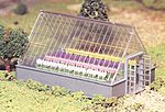 Greenhouse w/Flowers Snap Kit -- O Scale Model Railroad Building -- #45615