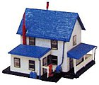 Farm House Built-Up -- N Scale Model Railroad Building -- #45812