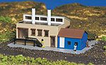 Factory w/Accessories Built-Up -- N Scale Model Railroad Building -- #45902