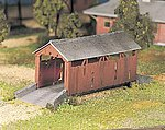 Covered Bridge Snap Kit -- O Scale Model Railroad Bridge -- #45992
