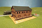 Steam Whistle In Freight Station -- N Scale Model Railroad Building -- #46902