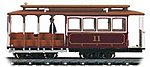 Cable Car Red #11 -- HO Scale Trolley and Hand Car -- #60530