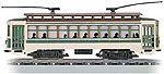 Brill Trolley - Standard DC - Green, White -- HO Scale Trolley and Hand Car -- #61043