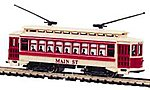 Lighted Brill Trolley Main Street -- N Scale Trolley and Hand Car -- #61090