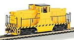 GE 44T Switcher Painted Unlettered Yellow/Black -- HO Scale Model Train Diesel Locomotive -- #62201