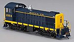 Alco S2 DCC Sound Santa Fe #2354 -- HO Scale Model Train Diesel Locomotive -- #63401