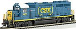 EMD GP40 CSX #4451 (Dark Future) -- HO Scale Model Train Diesel Locomotive -- #63524