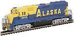 GP40 Alaska -- N Scale Model Train Diesel Locomotive -- #63598