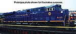 ES44AC with Sound Norfolk & Western #8103 -- HO Scale Model Train Diesel Locomotive -- #65408