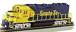 EMD GP40 DCC Santa Fe #2964 -- HO Scale Model Train Diesel Locomotive -- #66302