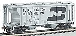 PS2 2-Bay Covered Hopper Burlington Northern -- HO Scale Model Train Freight Car -- #73502