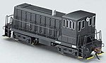 GE 70-Tonner w/DCC Painted, Unlettered (black) -- N Scale Model Train Diesel Locomotive -- #82051