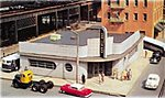 Spectrum Bus Station -- HO Scale Model Railroad Building -- #88005