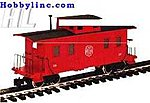 Eight-Wheel Wood Caboose East Broad Top -- G Scale Model Train Freight Car -- #93827