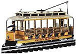 Open Streetcar w/Lights -- Standard DC -- United Traction #504 (Yellow, cream) -- G Scale -- #93938