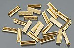 Brass Rail Joiners (24pc/Bag) -- G Scale Brass Model Train Track -- #94657